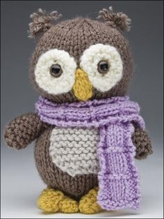Knitted owl from Knitted Amigurumi Animal friends. So cute!
