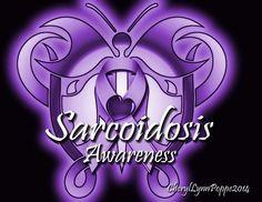 Sarcoidosis Awareness Ribbon Butterfly