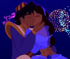 9. Favorite Couple:Aladdin and Jasmine <3 It's not in this picture but I've always adores the way he looks at her <3 <3