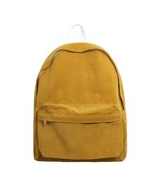 Casual backpack throughout all seasons. Soft corduroy material makes it somewhat different and unique. Simple fabric with no other heavy decorations makes this bag extremely lightwieght.  Perfect for everyone.  To school, to work, to picnics, to everywhere!  <<Dimensions>>  Width: 13 inch (33 cm) Height: 15.7 inch (40 cm) Depth: 5.1 inch (13 cm)  <<Colors>>  Ivory, Beige, Pink, Red, Mustard, Khaki, Sky Blue, Navy, Brown, Black (Check out the listings for images of other colors.)  *The…