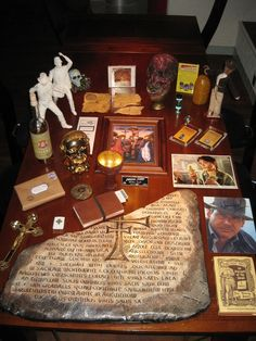 display of Indiana Jones trinkets