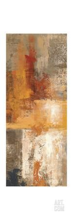 Silver and Amber Panel I Premium Giclee Print at Art.com
