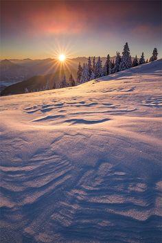 Wind ripples, Alps, Germany (by Daniel Eggert, on Beautiful Sunset, Beautiful World, Beautiful Places, Snow Scenes, Winter Scenes, Winter Magic, Winter Snow, All Nature, Winter Beauty