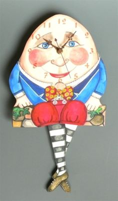 Wall Clocks for Baby Nursery and Kids Rooms - Humpty Dumpty