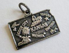 Vintage 50s Sterling Silver Kansas State by SanDiegoJewelryShop