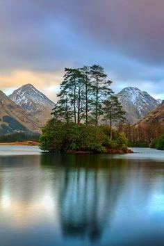 Lake Island, Glen Etive, Scottish Highlands