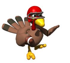 Free Animated Christmas Clip Art | Animations: Silly funny fun animations for the Thanksgiving holiday ...