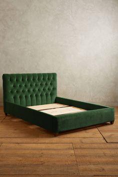 Slide View: 2: Velvet Tufted Lena Bed