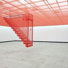 #SouthKorean #artist #DoHoSuh is known for his breathtaking #sculpture and #installation work. #StaircaseIII is suspended and made from gauze based on memories of his parents traditional Korean house in #Seoul and his own Western-style apartment in New York. By Womenswear Associate Editor Laura Yiannakou @laura_wgsn. #art #ModernArt #KoreanArt #colour #Clementine #orange #design #trend #trends #TrendForecast #WGSN