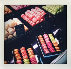 Best macarons ever!! Le Bon Marche, Paris July, 2009