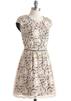 Close the Lace Down Dress, #ModCloth