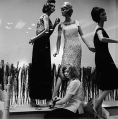 Window dressing in a fashion store 1963 | Museum of London