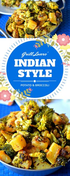 Grill Lovers' Amazing Indian-Style Potato and Broccoli Recipe   #recipes #foodporn #foodie