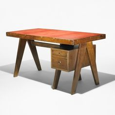 PIERRE JEANNERET, desk from the Administrative buildings, Chandigarh