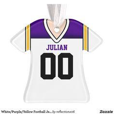 White/Purple/Yellow Football Jersey