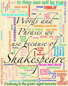 Words and Phrases we use because of Shakespeare
