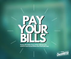Pay Bill - Pay your Bills with Online Check Writer & Keep funds in your account till the time it clears. Pay Any Bill - get all auto to reconcile with Payroll Checks, Blank Check, Writers Help, Writing Software, Quickbooks Online, Online Checks, Business Checks, Personal Finance, Les Oeuvres