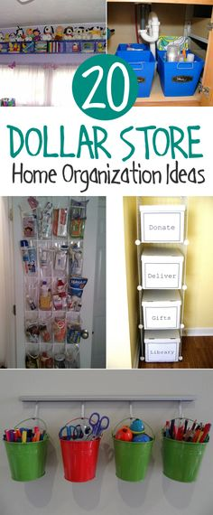 Dollar store organizing ideas for every room of your home.