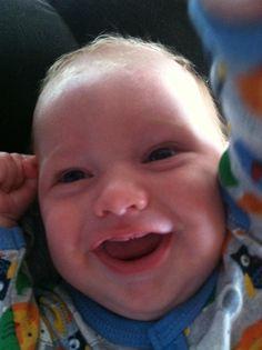 Garrett's toothless smile