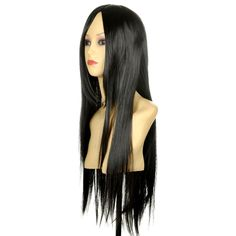 HELLOJF203 Very  Fashion Long black straight hair Women's wig wigs for women #Unbranded