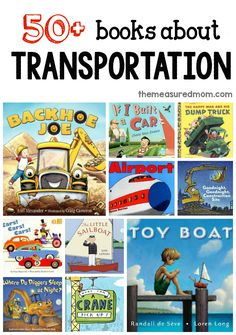A giant list of books for a preschool transportation theme Check out these fun books to read alongside your transportation theme in preschool! Read them in circle time, or read them before doing a transportation preschool craft. Preschool Books, Preschool Curriculum, Book Activities, Preschool Themes, Construction Theme Preschool, Preschool Printables, Preschool Lessons, Preschool Math, Kindergarten Activities