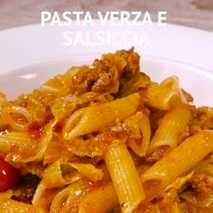 ✔ Dinner For 2 Videos Pasta Easy Sausage Recipes, Easy Easter Recipes, Hot Dog Recipes, Pasta Recipes, New Recipes, Healthy Recipes, Cabbage And Sausage, Sausage Pasta, Herb Roasted Turkey