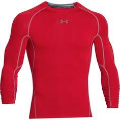 Under Armour Men's Red HeatGear Armour L/S Compression Shirt