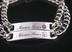 Mama Bear  Stainless Steel Bracelet by Jadoos on Etsy