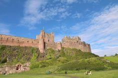 The famous Bamburgh Castle, Northumberland.