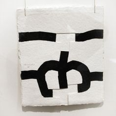 Eduardo Chillida (1924-2002) Gravitación (untitled/number not known). Cut paper, black ink and cord.
