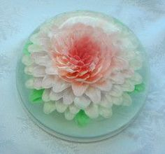 White Gelatin Art Cake