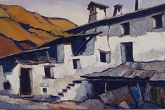 """Hof in Vinschgau"" - Ernst Müller Exhibition ""Meet.Mountain.People.Soul."" #ausstellung#mostra#exhibition#ölbild#oliosutela#oilpainting#müller#höfe#Kompatscher#Kunst#arte#art#Brixen#Bressanone#Südtirol#southtyrol#italien#italia#italy#instaart#beautiful#galeriehofburg#kunsthandlung#IMS#berge#hof#maso#farm#bauernhof#vinschgau Instagram Posts, People, Painting, Beautiful, Art, Mountains, Picture Frame, Italy, Craft Art"
