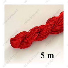 Fonott selyemszál 1 mm vastag 5 m Piros Band, Accessories, Fashion, Moda, Sash, Fashion Styles, Bands, Fashion Illustrations, Orchestra