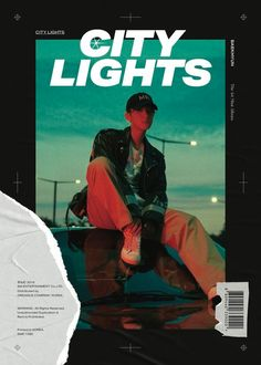 """Watch: EXO's Baekhyun Introduces Solo Debut Concept With Captivating """"City Lights"""" Film And Teaser Images Graphic Design Layouts, Graphic Design Posters, Graphic Design Inspiration, Layout Design, Baekhyun, Mises En Page Design Graphique, Posters Conception Graphique, Gfx Design, Photographie Portrait Inspiration"""