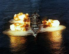 Battleship New Jersey Firing it's guns