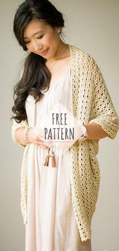 Calla Lily Cardigan – Free Crochet Pattern #crochet #freecrochetpattern #crochetlove #diy #tutorialcrochet #videocrochet #pattern