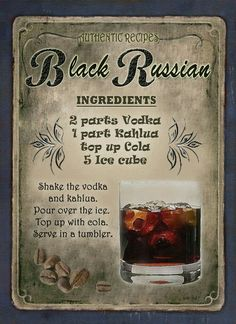 Black Russian Cocktail Black Russian Cocktail – Cocktails and Pretty Drinks Drink Bar, Liquor Drinks, Non Alcoholic Drinks, Cocktail Drinks, Beverages, Black Russian, Fancy Drinks, Yummy Drinks, Cocktail Videos