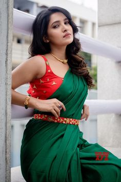 To make it easier for you, we have the top trending beautiful silk saree blouse designs so that you can choose the best for your saree look. Blouse Back Neck Designs, Silk Saree Blouse Designs, Blouse Patterns, Beautiful Girl Indian, Most Beautiful Indian Actress, Beautiful Saree, Beautiful Actresses, Beautiful Celebrities, Beautiful Ladies