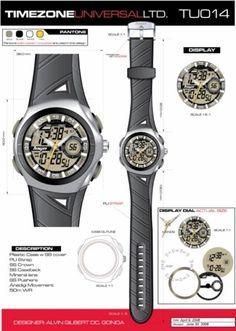 Time Zone Universal  LTD. Watches  designed by: Alvin Gilbert Dc. Gonda  abugonda@yahoo.com Design Development, Pantone, Industrial Design, Behance, Concept, Graphic Design, Watches, Accessories, Industrial By Design