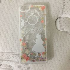 Cell Phone Case Alice in Wonderland theme phone case. It fits an IPhone 6 Plus. Never used. I ordered the wrong size. Accessories Phone Cases