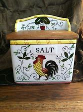 rooster and roses salt box