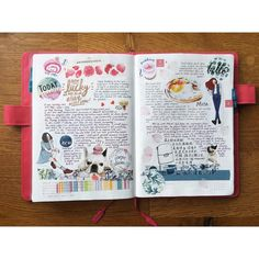 """433 Likes, 1 Comments - April Wu (@penguinscreative) on Instagram: """"A lovely spread for a special day #daily #dailysketch #journal #hobo #hobonichi #hobonichitecho…"""""""