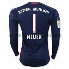 739bde6c56 Camisetas De Futbol Bayern Munich Neuer 1 Portero Primera Equipación Manga  Larga 2016-17