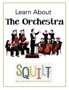 Learn About the Instruments of the Orchestra - a new resource from SQUILT Music! - Tap the link to shop on our official online store! You can also join our affiliate and/or rewards programs for FREE! Music Lesson Plans, Music Lessons, Instruments Of The Orchestra, Musical Instruments, Homeschool Curriculum Reviews, Homeschooling, Music For Kids, Cc Music, Reggae Music