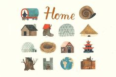 Home by Carson Ellis: Beautiful illustrations of the way we live around the world