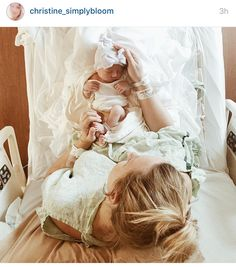 All credit to this women and her precious baby girl. I want this photo in the delivery room