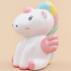 white unicorn pink wing animal scented squishy kawaii