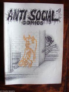 ANTI SOCIAL COMICS # 1 - TOM & KEN ROBERTS - JIM SIERGEY - 1982 - HELPLESS ANGER