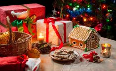 Christmas Backdrop Xmas Gift Photography Background New Year Present Dinner Table Gingerbread Party Decoration Kid Artistic Portrait P Christmas Candle, Christmas Holidays, Christmas Scents, Buffet Chic, Image New, Christmas Backdrops, Kids Party Decorations, Xmas Cookies, Cookie Gifts