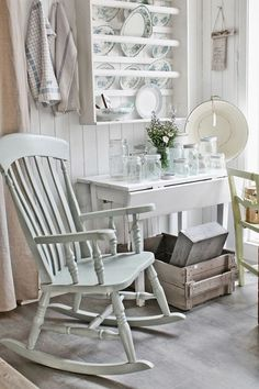 Looking for cottage kitchen ideas? We present 11 secrets to getting the cosy country cottage interior design vibe of your dreams. Cottage Chic, Country Cottage Interiors, Cottage Kitchens, Cottage Style, Shabby French Chic, Shabby Chic Decor, Old Wooden Chairs, Vibeke Design, House And Home Magazine
